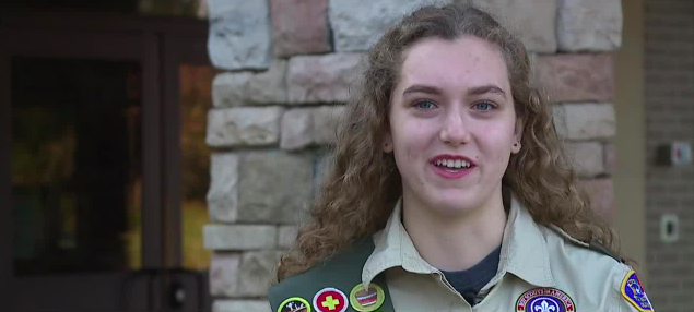 Local high schooler hopes to become one of the country's first female Eagle Scouts
