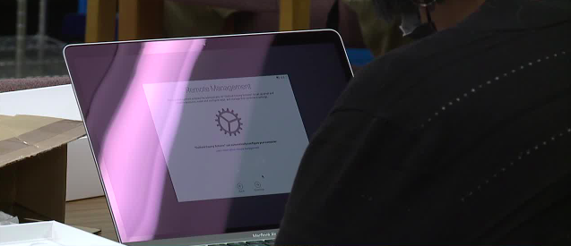 Long-awaited laptops handed out to Guilford County teachers
