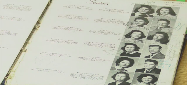 Old high school yearbook with family ties sent to Asheboro teacher