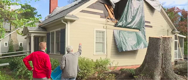 Family describes tree falling on home in Greensboro