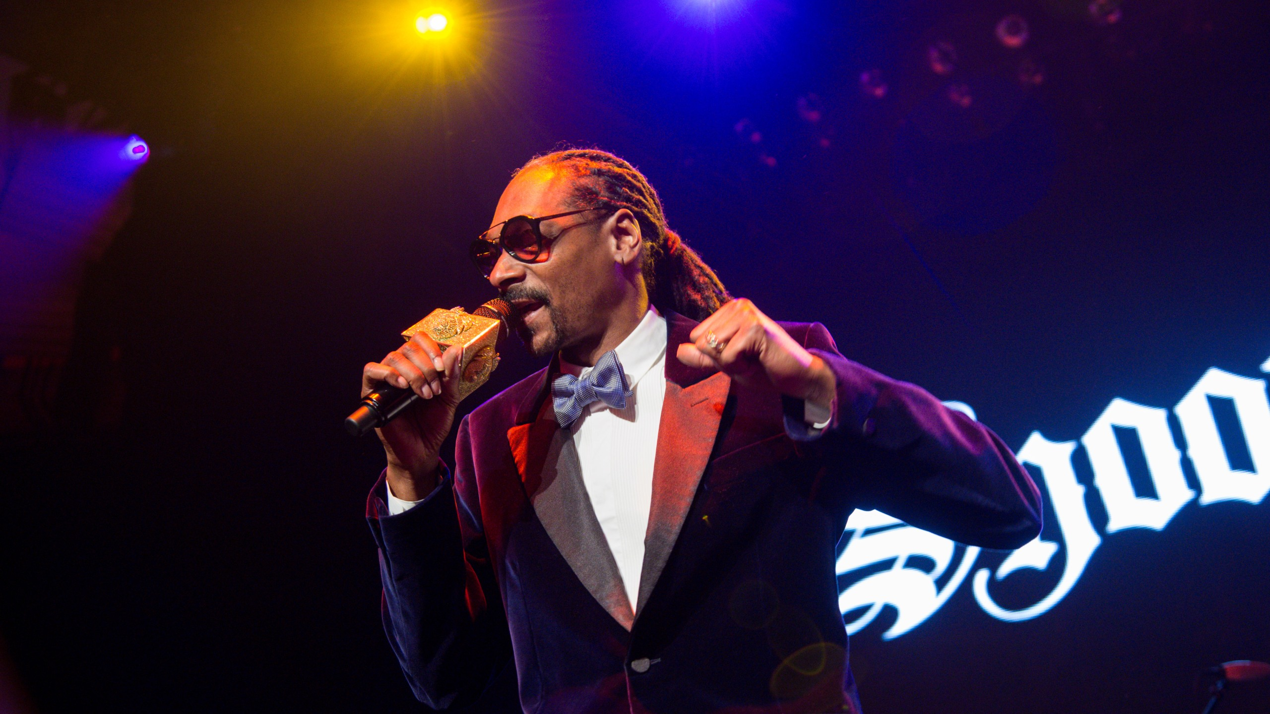 Snoop Dogg performs at The Levi's Pre-Grammy Party With Snoop Dogg at The Hollywood Palladium on Thursday, Feb. 5, 2015, in Los Angeles. (Photo by Rob Latour/Invision/AP)