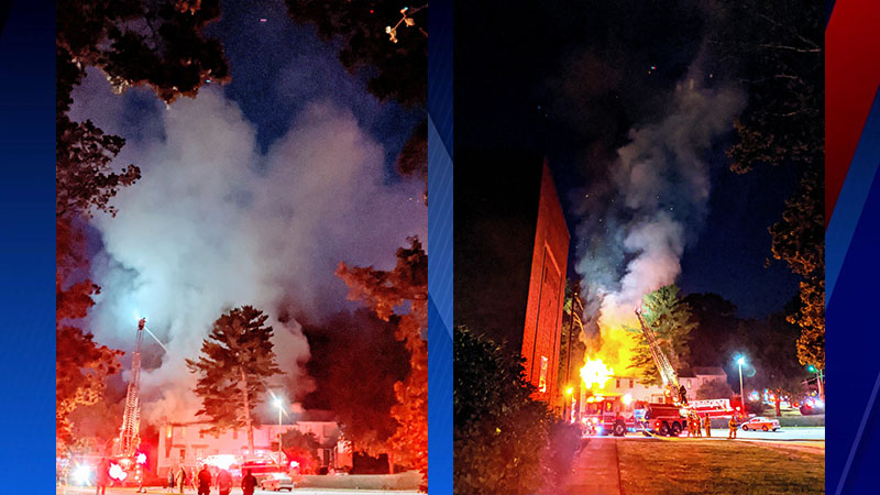 Firefighters respond to burning apartment in Thomasville (Courtesy of Kelly Edwards)