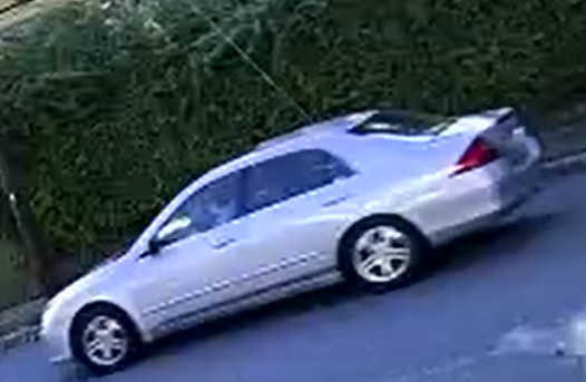 Burlington Police have identified the suspect vehicle as a silver Honda Accord using surveillance video.