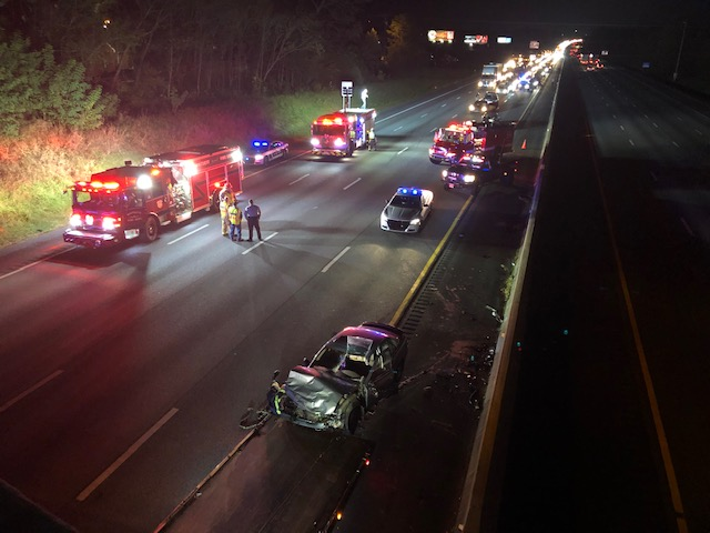 Crash shuts down part of I-85 southbound (Nelson Kepley/WGHP)