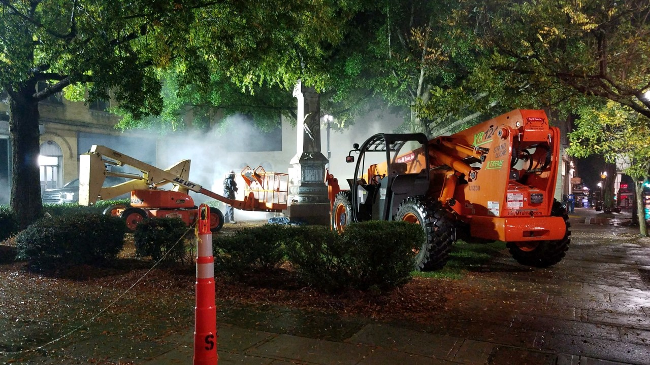 Confederate monument in Lexington removed overnight