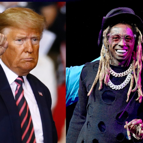 President Donald Trump and Lil Wayne (Credit: Getty Images)