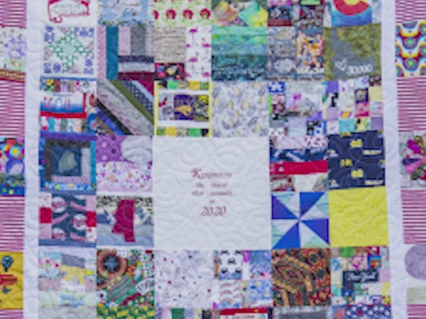 Local woman contributes to special quilt sent to DC made from face mask material