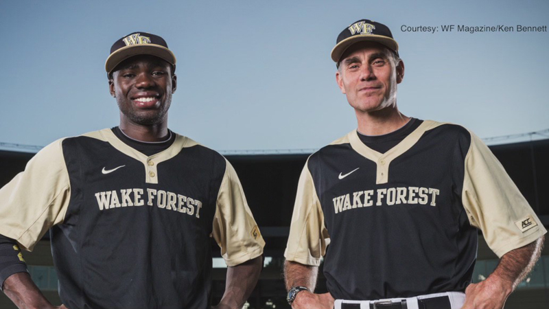 Wake Forest University baseball coach, former player he donated kidney to start foundation to empower kids