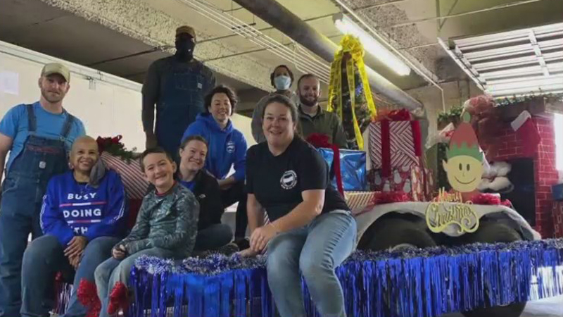 High Point police create 'Blue Line Express' Christmas float, plan to travel around city Saturday