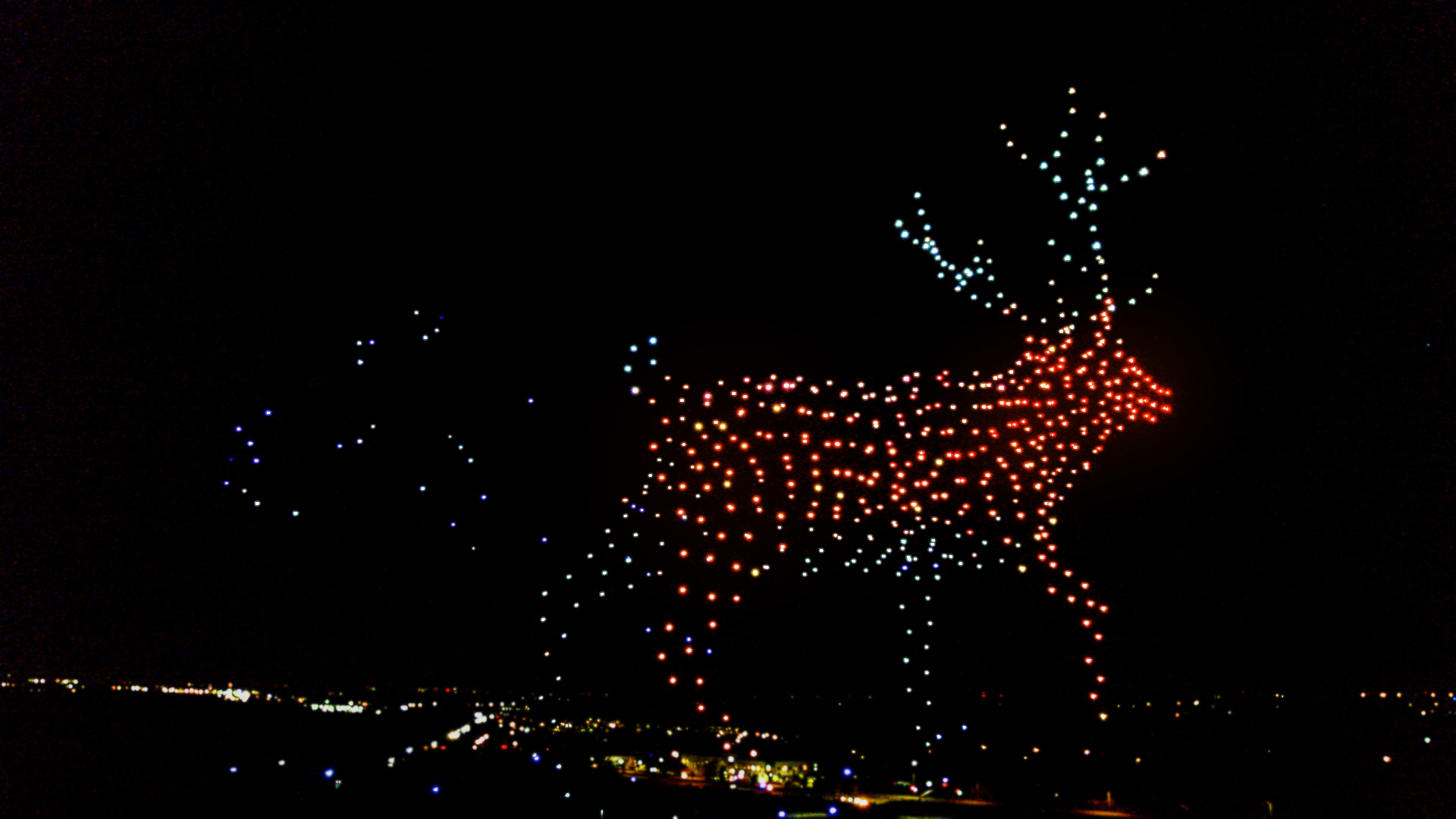 Walmart teams up with Intel for a holiday light show with 1,000 drones at Carowinds, other US locations