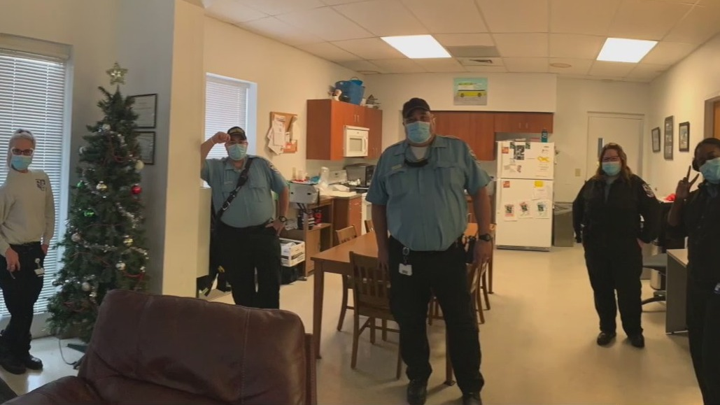 Greensboro first responders squeeze in a Thanksgiving celebration at the firehouse