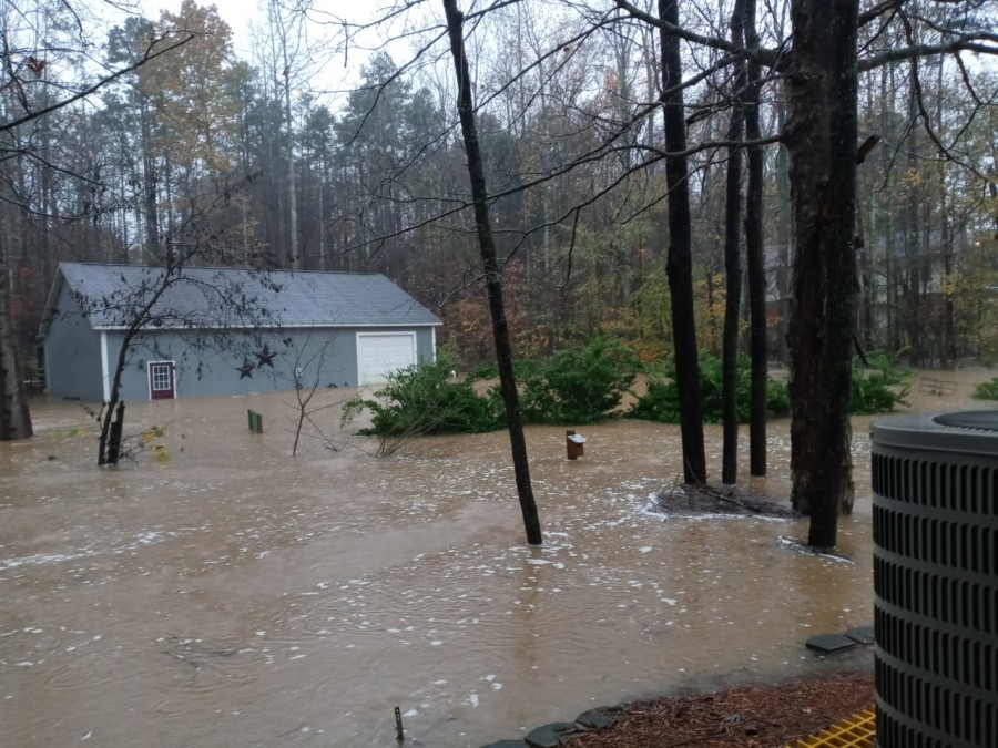 Flooding in Lexington, N.C.