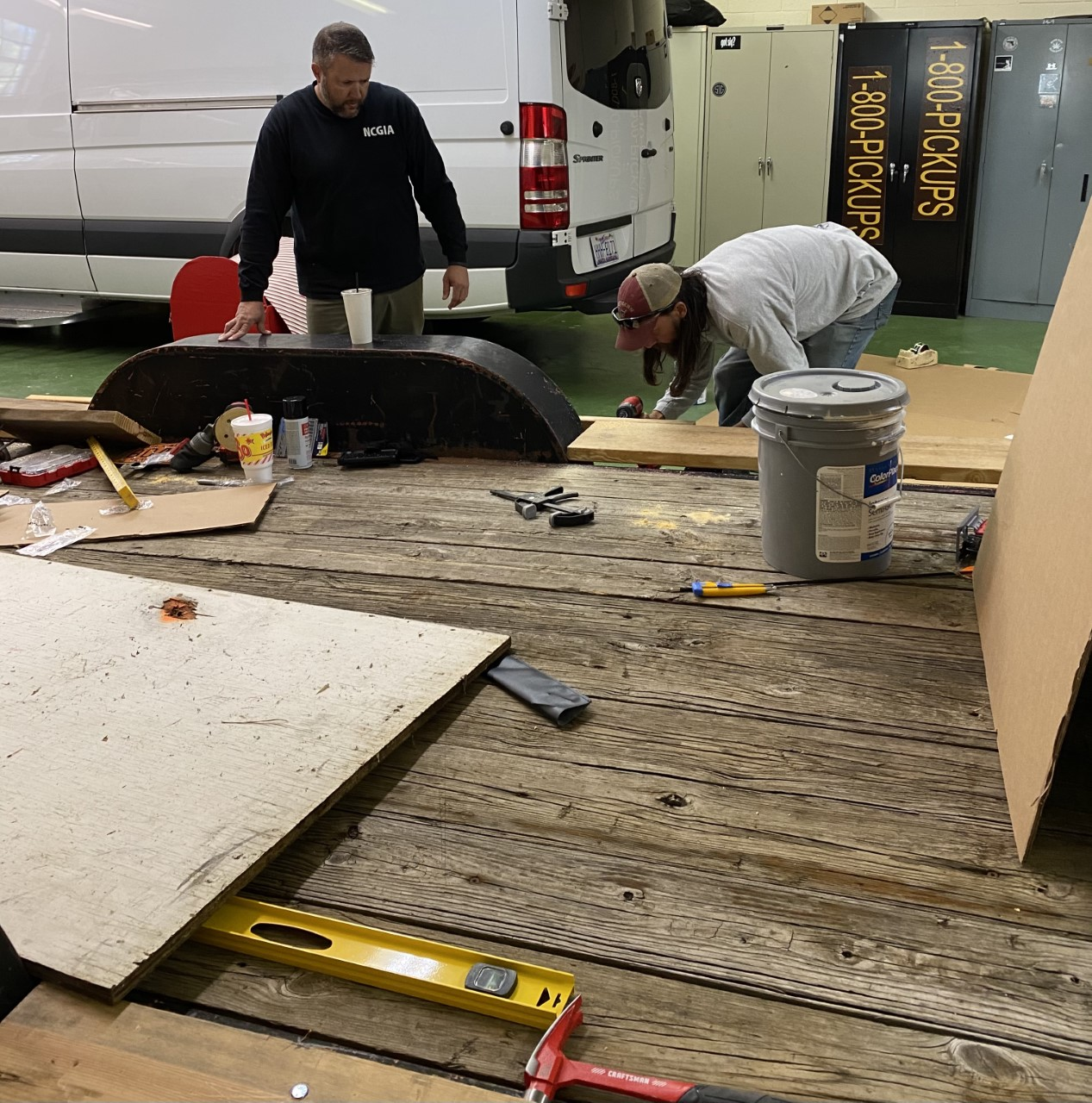 High Point police build Christmas float set to go around city Saturday