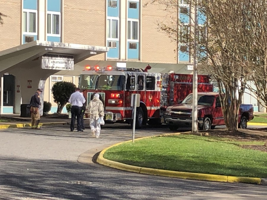 Firefighters in Winston-Salem put out high-rise fire, 1 person displaced (Joe Johnson/WGHP)
