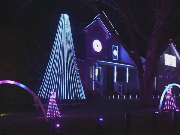 Jamestown man's Christmas display has 13,000 pixels sequenced to music