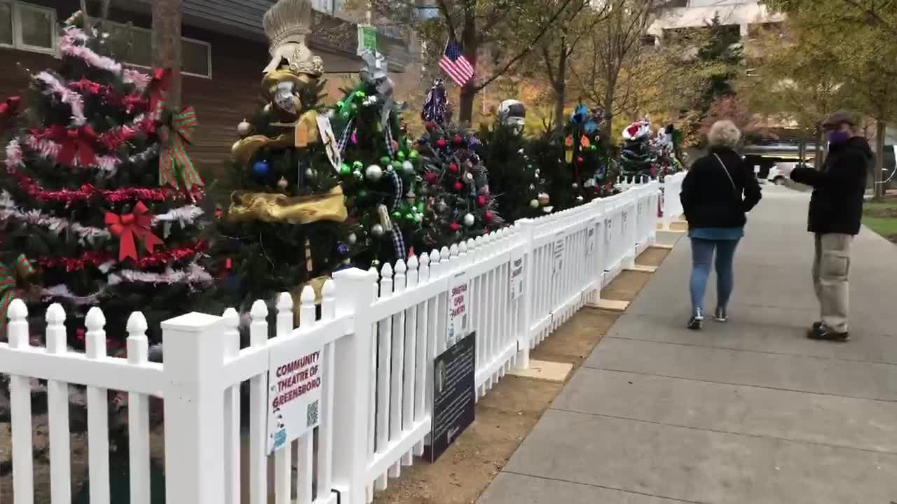 LeBauer Park in Greensboro transforms into Tinsel Town for the month of December