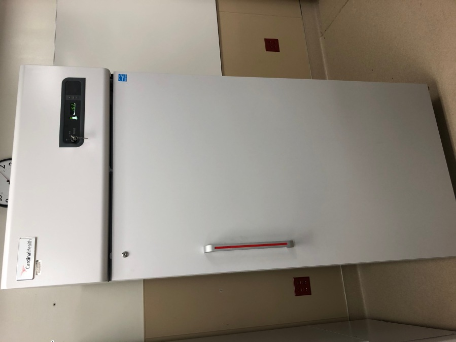 ULT is the ultra-low temperature -80C freezer for when the Pfizer vaccine arrives. The -30C one is to store the Moderna vaccines which we expect to arrive next, after Pfizer. (Wake Forest Baptist Health)
