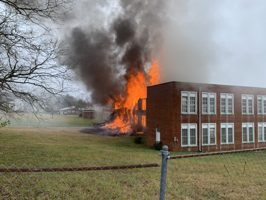Crews face second fire in 2 months at old Kern Street School in Thomasville (Thomasville Fire Department)