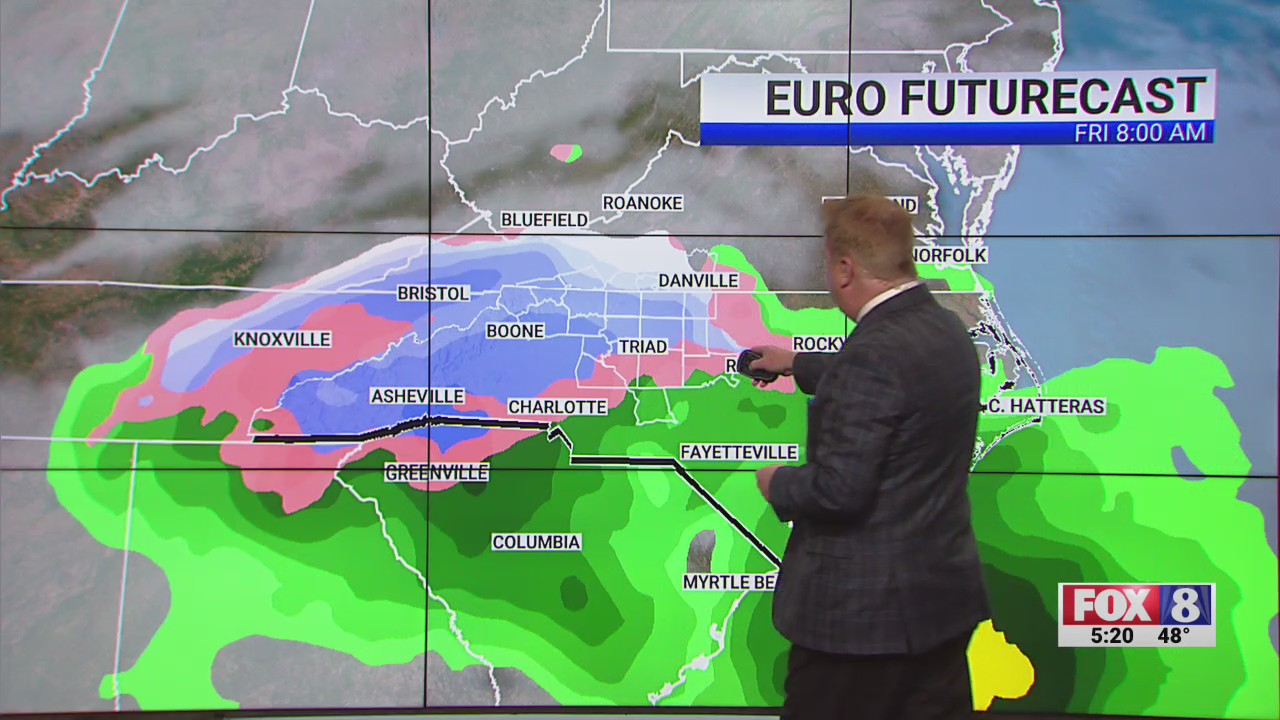 Piedmont Triad could see snow late Thursday, Friday