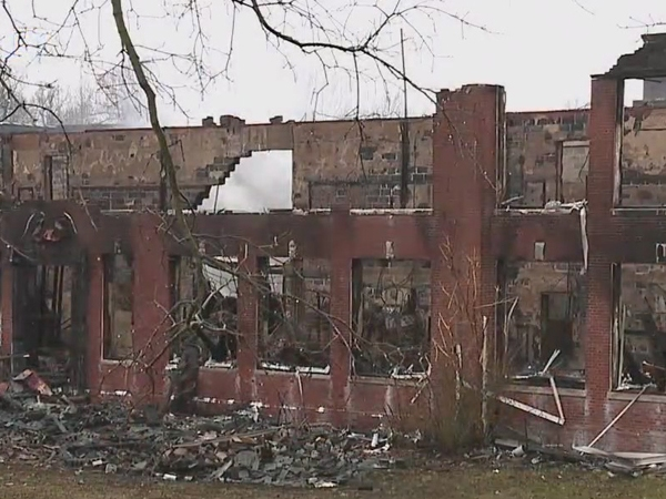 Firefighters again battle fire at abandoned Kern Street School in Thomasville