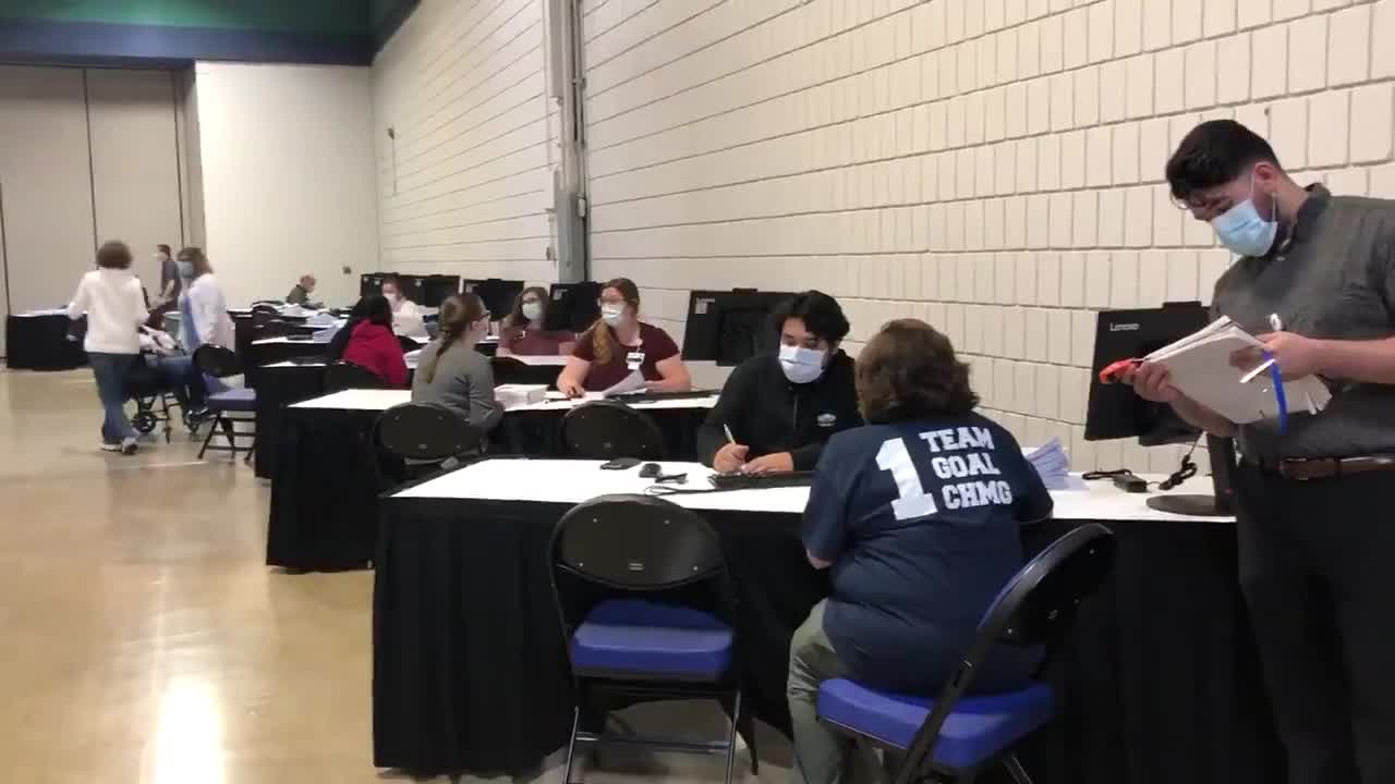 Greensboro Coliseum transforms into mass vaccination site