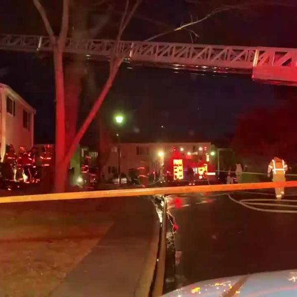 Winston-Salem firefighters working to put out apartment fire