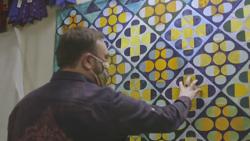 Asheboro man continues late grandmother's legacy of making quilts, giving them away