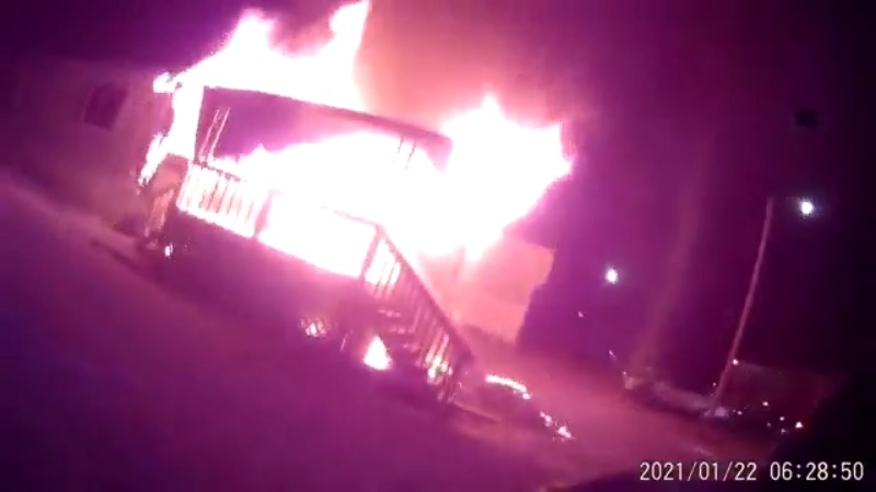 Helmet cam video shows Winston-Salem firefighters face fire on Sides Village Drive; 12 people displaced