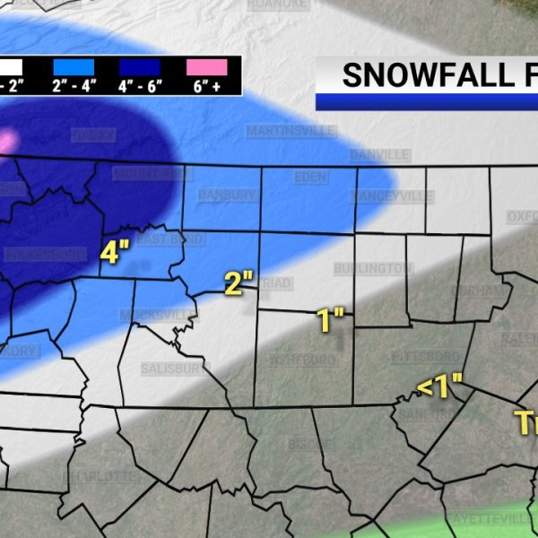 Snowy day in Triad to begin Friday morning; 'This will all end at snow in the evening'