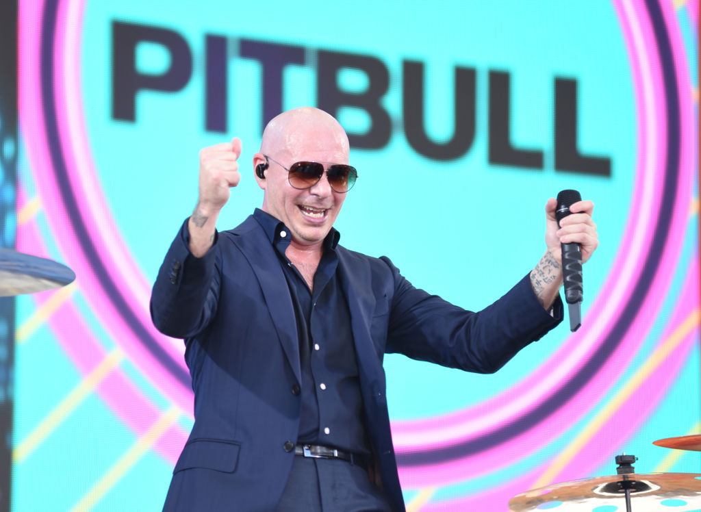 """GOOD MORNING AMERICA - Pitbull performs live on """"Good Morning America,"""" as part of the GMA Summer Concert series on Friday, June 15, 2018 airing on the Walt Disney Television via Getty Images Television Network. GMA18 (Photo by Paula Lobo/Walt Disney Television via Getty Images) PITBULL"""