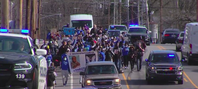 A hundred people march in High Point for justice for Fred Cox as SBI investigation into death continues