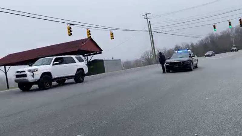 Video shows parade on Highway 66 honoring Kernersville officer shot in line of duty