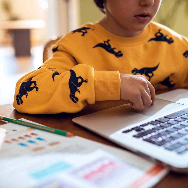 Boy uses computer (Getty Images)