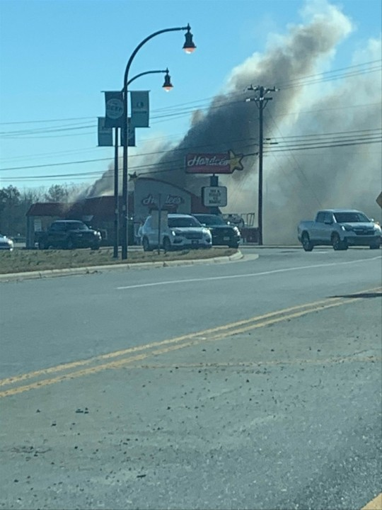 Hardee's in Randleman catches fire (credit: Taylor Vestal)