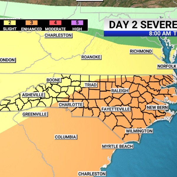 'Probably the nastiest storm system so far this season': Severe weather expected across NC on Thursday