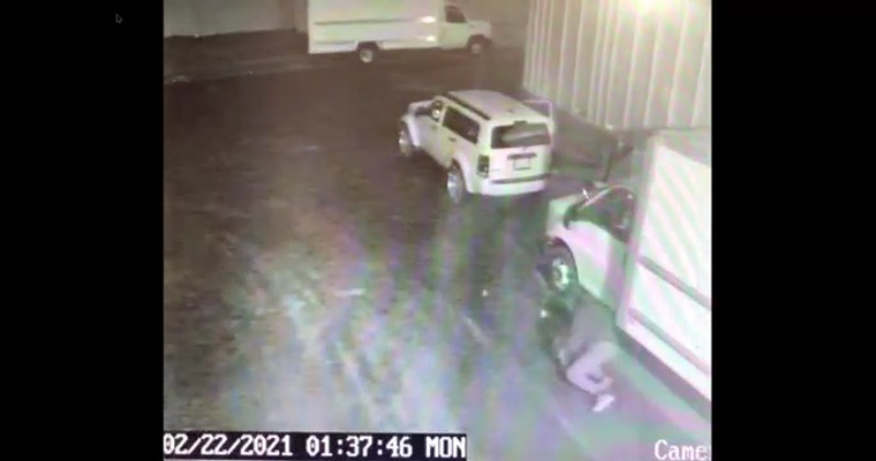 Video shows thieves stealing catalytic converters out of Greensboro business's work trucks