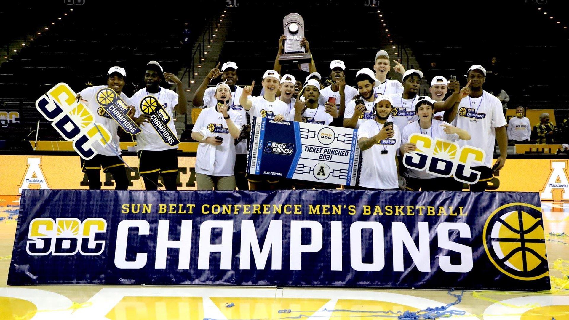 Appalachian State men's basketball wins 2021 Sun Belt Conference Championship (Photo: AppStateSports.com)