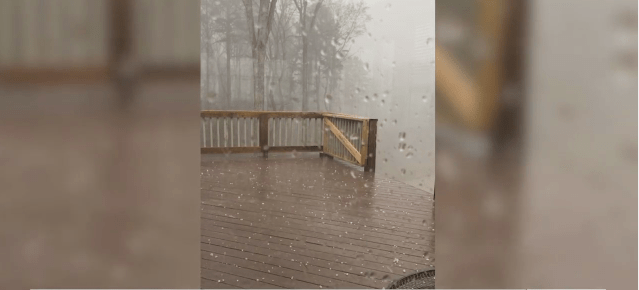 Quick hailstorm takes the Asheboro community by surprise