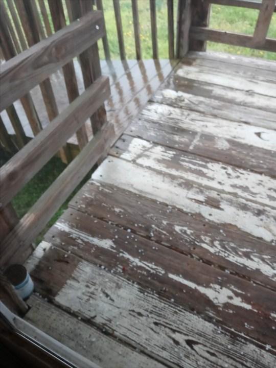 Hail pellets in Mocksville (William Stalker)