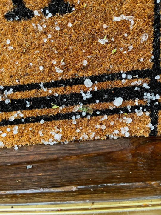 Hail falls in Archdale (Allison Vance)