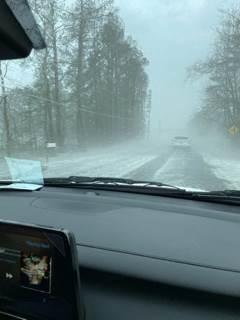 Hail falls during storm in Piedmont (Amanda Ellis)