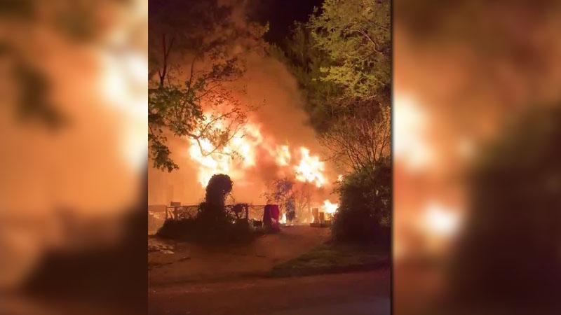 Fire on Sunnyside Avenue in Winston-Salem (Courtesy of Winston-Salem Fire Department)