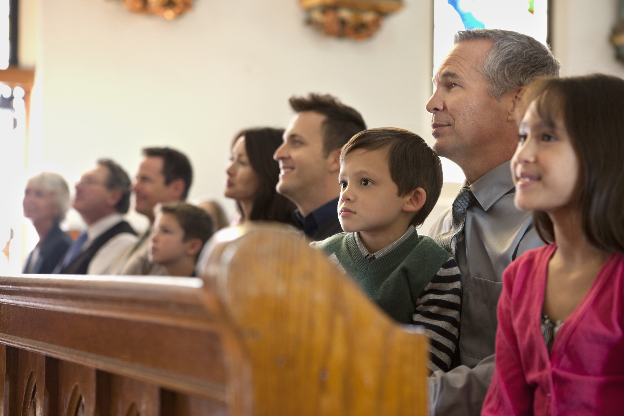 Congregation in church (Getty Images)