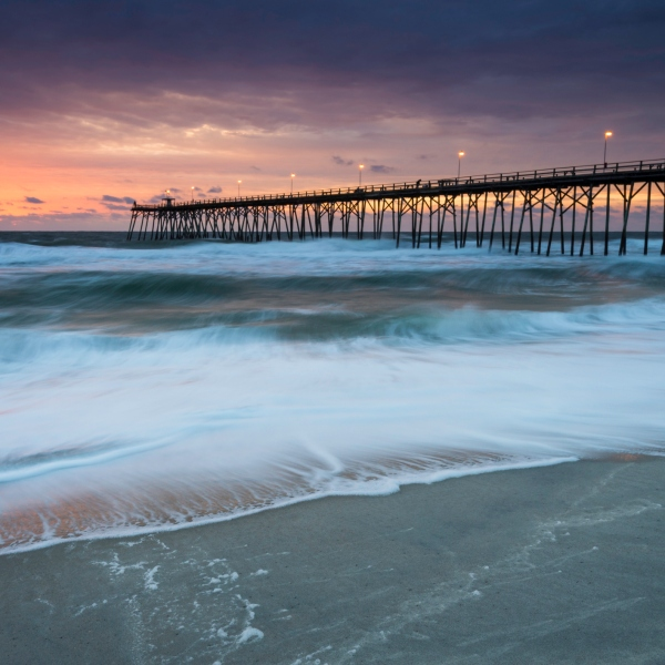 Sunrise on Kure Beach by the Pier (Getty Images)