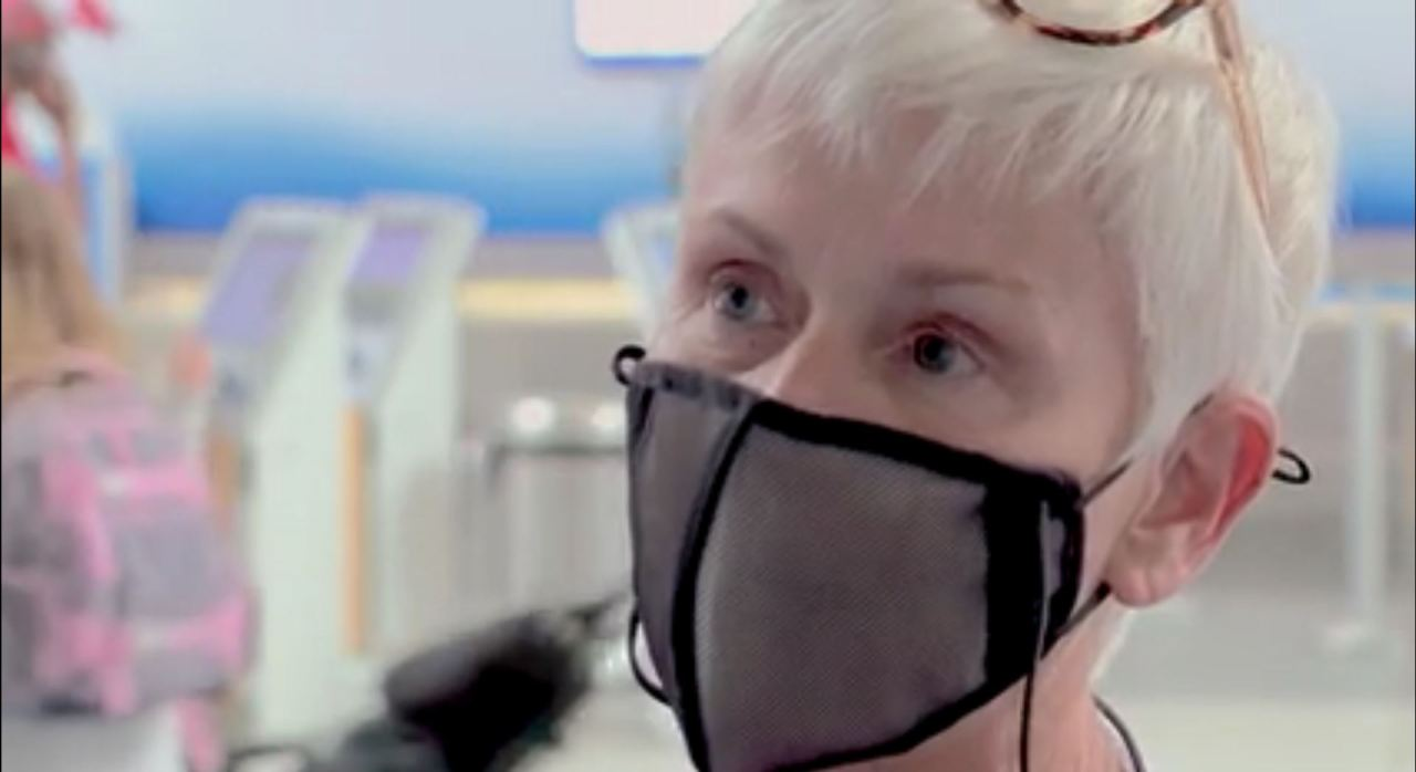 Woman says she wasn't allowed on flight out of NC because mask was see-through