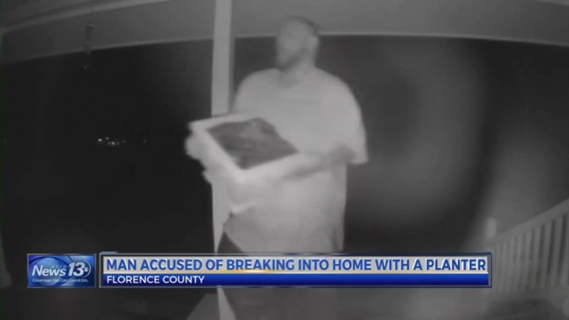Video: Man high on meth smashes SC couple's window with planter, deputies say