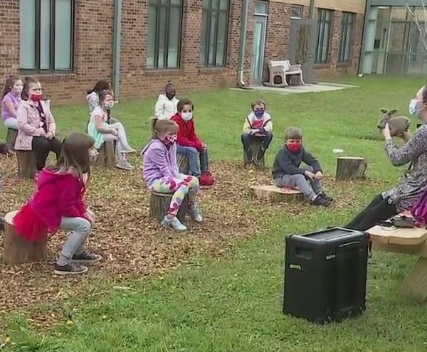 Community helps High Point school create outdoor classroom, sets sights on creating mindfulness garden