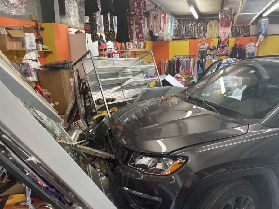 SUV crashes into Greensboro flea market