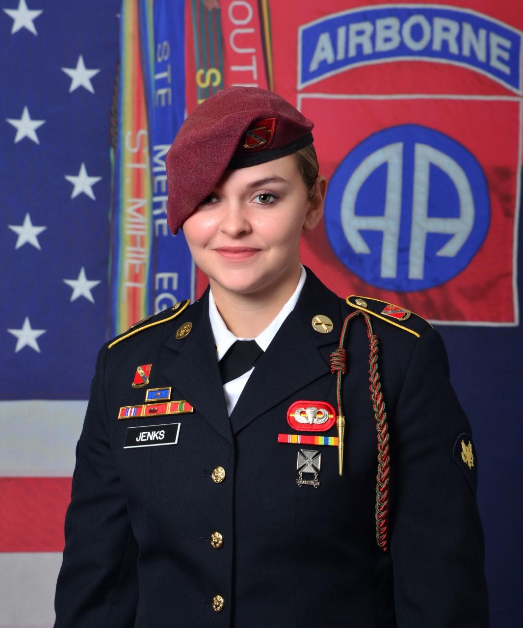 Spc. Abigail Jenks, 21, of Gansevoort, New York