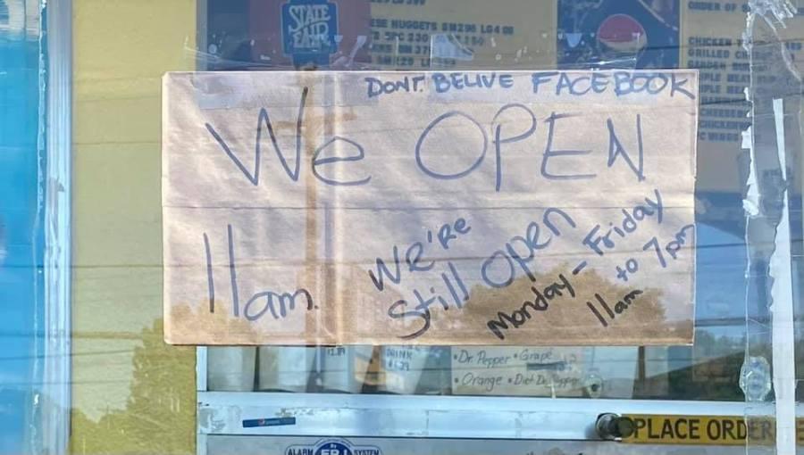 'Don't believe Facebook': Beef Burger in Greensboro is still open!